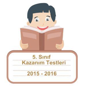 2015-2016 5.Sınıf Türkçe KAzanım Testleri PDF