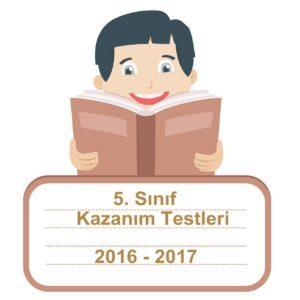 2016-2017 Türkçe Kazanım Testleri 5.Sınıf PDF Cevap Anahtarı