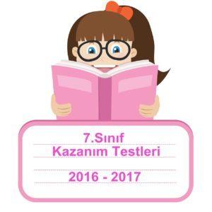 2016-2017 Türkçe Kazanım Testleri 7.Sınıf PDF Cevap Anahtarı ile birlikte indirebilirsiniz.