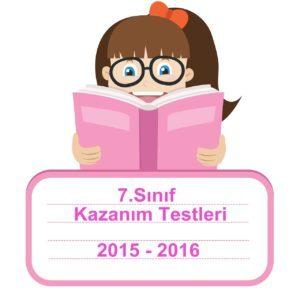 7.Sınıf Türkçe Kazanım Kavrama Testleri 2015-2016 PDF