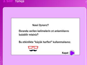 Türkçe Dersi Oyunlar eğitsel oyunlar öğretici oyunlar