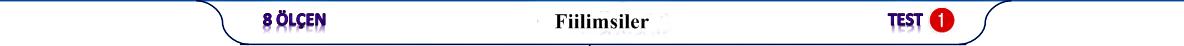 8.sınıf LGS Fiilimsiler Test PDF