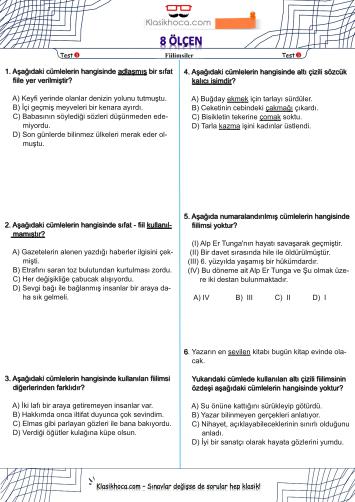 lgs türkçe testleri