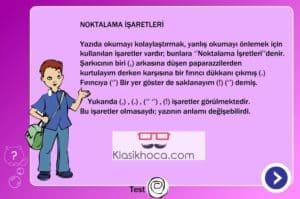 türkçe dersi oyunlar noktalama işaretleri