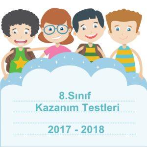 2017-2018 8.Sınıf Türkçe Kazanım Testleri ve Cevap Anahtarı PDF