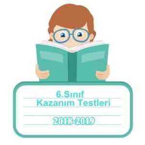 2018-2019 6.Sınıf Türkçe Kazanım Testleri ve Cevap Anahtarı PDF