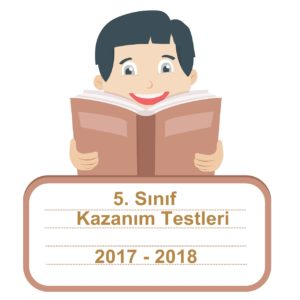 2017-2018 5.Sınıf Türkçe Kazanım Testleri ve Cevap Anahtarı PDF