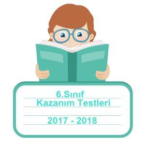 2017-2018 6.Sınıf Türkçe Kazanım Testleri ve Cevap Anahtarı PDF