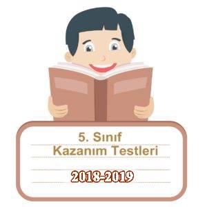 2018-2019 5.Sınıf Türkçe Kazanım Testleri ve Cevap Anahtarı PDF