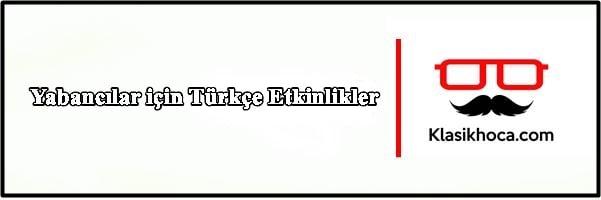 Yabancılar için Türkçe Etkinlikler Çalışma Kağıtları PDF Türkçe Öğretimi