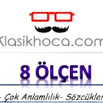 Sözcükte Anlam Test Çöz 4 - 8. Sınıf LGS Sözcükte Anlam Test Online 5