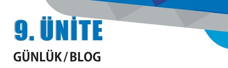 9.sınıf edebiyat 9.ünite günlük blog