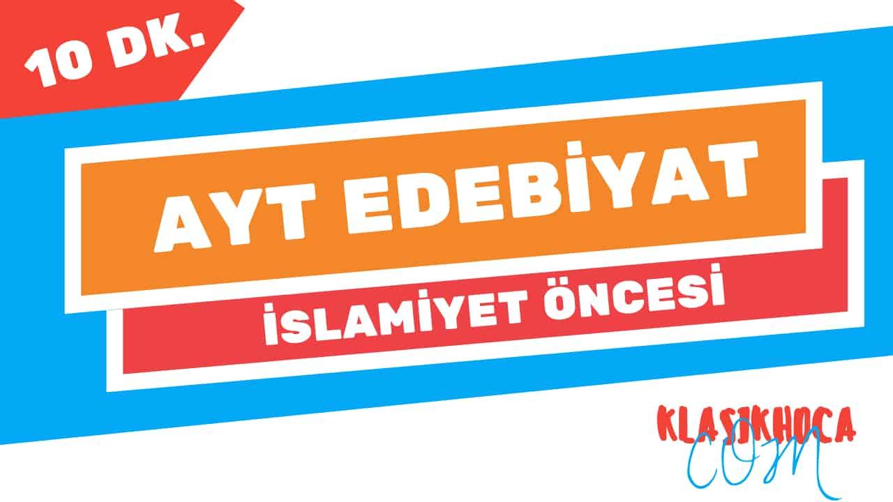 islamiyet öncesi türk edebiyatı ayt