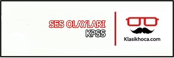 ses olayları konu anlatımı kpss 2022 pdf türkçe